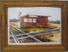 NEW CLEAR LAKE RAILROAD JUNCTION PRINT BY IOWA ARTIST COLLEEN J. CARSON