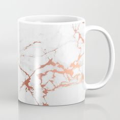 White Rose-gold Marble Coffee Mug by Printapix - 11 oz Rose Gold Kitchen, Marble Mugs, Tres Belle Photo, Gold Everything, White Coffee Mugs, Coffee Cups, Rose Gold Marble, Cute Mugs, My New Room