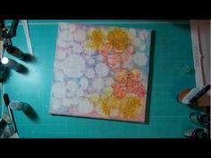 Mixed Media canvas tutorial with Prima Educator, Janine Koczwara