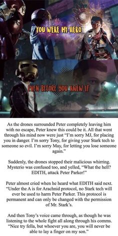 marvel universe I was fucking suprised that Edith could actually harm Peter. Funny Marvel Memes, Dc Memes, Avengers Memes, Marvel Jokes, Marvel Dc Comics, Marvel Heroes, Marvel Avengers, Captain Marvel, Spiderman