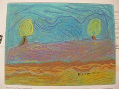 pastel, by child. Frame worthy!