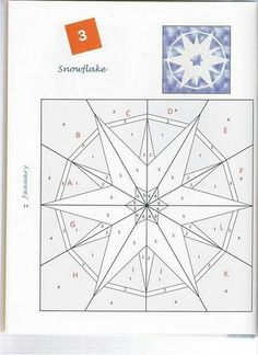 Snowflake Foundation Paper Pieced Quilt Block
