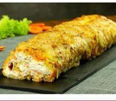 Kartoffelroulade med kylling og flødeost Veggie Recipes, Great Recipes, Dinner Recipes, Cooking Recipes, I Love Food, Good Food, Calzone, Dinner Is Served, Best Appetizers