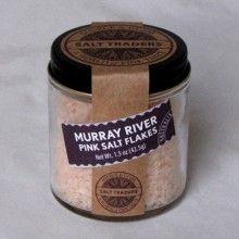 Murray River pink sea salt. My favorite.