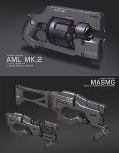 Kraut Space Magic — dustrial-inc: ProgV Sci Fi Weapons, Weapon Concept Art, Weapons Guns, Fantasy Weapons, Guns And Ammo, Armes Futures, Arsenal, Nerf Mod, Future Weapons
