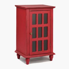Simms Shoe Cabinet In Cappuccino. See More. Antique Red Window Pane Accent  Cabinet
