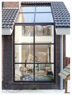 Great idea for skylight-window combo In the Netherlands  Méchant Design: renovated farm house