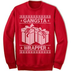 Gangsta Wrapper Ugly Christmas Sweater. – Merry Christmas Sweaters