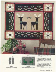 "Quilting Magazine Pattern, ""Harts"
