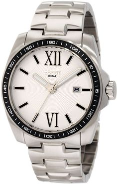Esprit Men's Silver Dial Stainless Steel Band Watch - ES103601004 | Souq - Egypt Seiko, Style Classique, Silver Man, Watches For Men, Wrist Watches, Casio, Omega Watch, Bracelet Watch, Affordable Watches