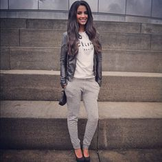 This is too cool. #leatherjacket #casual #style