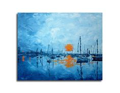Harbour  Print of original painting   Seascape by BBFineArt, $26.00