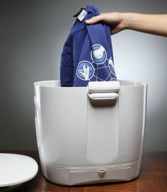 The Laundry POD - is a portable washer designed for washing small loads of laundry using a minimal amount of water and ZERO electricity.