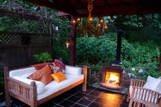 garden gazebo with wood stove - Google Search
