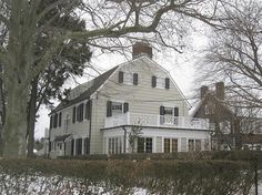 """Amityville House: This was the home occupied by the DeFeo family until they were murdered in 1974. The eldest of the five children, Ronald """"Butch"""" DeFeo Jr., was convicted of murdering his parents and four younger siblings with a .35 calibre rifle."""
