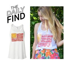"""The Daily Find: Tees and Tank You Tank Top"" by polyvore-editorial ❤ liked on Polyvore featuring DailyFind"