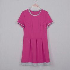 Summer dress women 2016 Sheath dresses Striped Dress Short Sleeve plus size women clothing dresses Mid-Calf