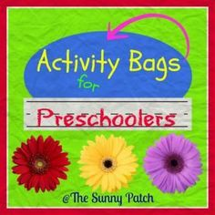Activity Bags for Preschoolers - fun preschool activities for kids! Lots of learning activities that are perfect for quiet play.