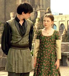 Lucy Pevensie , her dress is the best