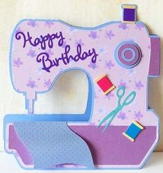 Sewing Machine Card on Craftsuprint - View Now!