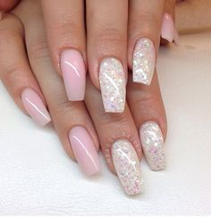 Roze, wit, glitter