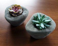 Fake stone, concrete pots for plants - Oct 2014 on Behance