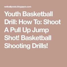 Youth Basketball Drill: How To: Shoot A Pull Up Jump Shot! Basketball Shooting Drills!