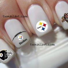 steelers nail art   steelers nail art   ⊱ football ⊰   Stee7er ...