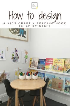 A step by step guide to creating this kids craft and reading nook Craft Corner, Kids Corner, Ikea Pictures, Cute Kids Crafts, Workspace Inspiration, Little Designs, Deco Design, Reading Nook, Kid Spaces