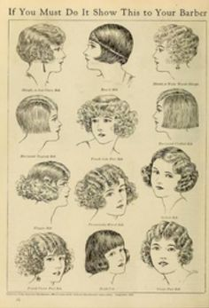 """In the 20s it was a HUGE deal for women to """"bob"""" their hair.  It was a sign of the times and a way for women to break societal bonds. At this time hair salons were for women to get their hair styled, and barbers were the only ones doing any cutting!!  #hairrevolution #20shair #womensequality"""