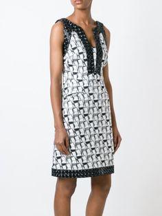 Chanel Vintage geometric jacquard dress