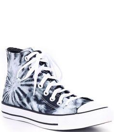 Cool Converse High Tops, High Top Converse Outfits, Cute Converse, High Top Sneakers, Tie Dye Converse, Converse Hightops, Hi Top Converse, High Top Vans, Converse Chuck Taylor