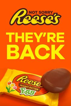 REESE'S Peanut Butter Eggs are back this spring. The perfect combination of peanut butter and chocolate, in a classic egg shape. They are perfect for an Easter basket, or delicious on their own. Low Carb Chocolate, Best Chocolate, Chocolate Molds, Decadent Chocolate, Chocolate Cake, Chocolate Cheesecake, Chocolate Chips, Peanut Butter Eggs, Reeses Peanut Butter