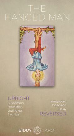 The Hanged Man Tarot Meaning Click to learn more about this card! hanged man card, hanged man reversed, the hanged man card reversed, hanged man meaning