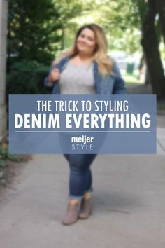All-denim outfits are a fall fashion hit this season! Learn how to style the cutest autumn trend with inspiration from blogger @nataliexcraig at #MeijerStyle.