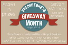 nice Preparedness Giveaway Month