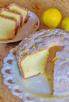 Lemon Pound Cake with Lemon Glaze. A silky smooth texture with fresh lemon flavor and finished off with lemon glaze. Best Cake Recipes, Pound Cake Recipes, Dessert Recipes, Pound Cakes, Layer Cakes, Easter Recipes, Dessert Ideas, Favorite Recipes, Lemon Desserts
