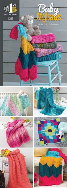 Neuen 2019 Make Your First Knit Baby Afghans - 10 Afghan Projects for True Beginners - 10 k. Knitted Afghans, Knitted Baby Blankets, Baby Afghans, Baby Knitting Patterns, Baby Afghan Patterns, Easy Knit Baby Blanket, Knitting For Beginners, Knitting Projects, Loft Insulation