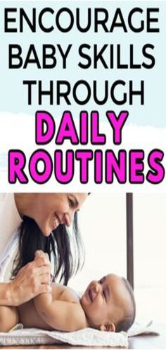 Learn how to encourage infant development through daily routines and baby playtime. These parenting strategies are perfect for busy moms and dads looking to teach their little ones throughout the day. Dad Advice, New Parent Advice, Parenting Toddlers, Parenting Books, Parenting Tips, Peaceful Parenting, Gentle Parenting, Age Appropriate Chores For Kids, Newborn Care