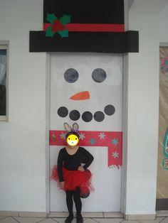 Puertas Decoradas De Navidad Colegio