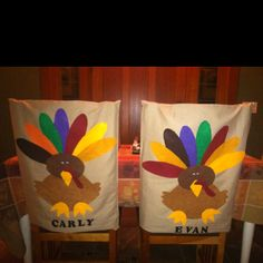 Made from pillowcases and felt by Barbara. Love these for kid table.
