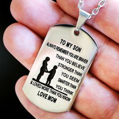 From Mom to Son - Stainless Steel Necklace