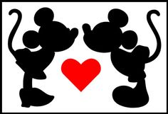 mickey y minnie beso - Buscar con Google