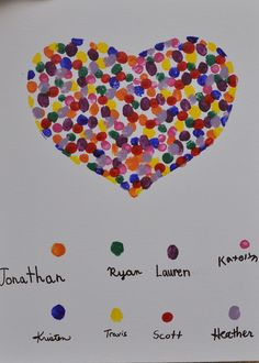 Busy Kids = Happy Mom: Share the Love! Fingerprint Heart Project