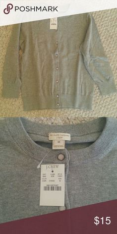 Clare cardigan Heather gray - brand new with tags and never worn.  Size is medium but fits more like a small. J. Crew Factory Sweaters Cardigans