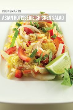 Weeknight Meals via @CookSmarts: Asian Rotisserie Chicken Salad #recipe