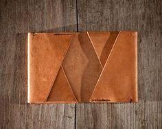 Men Leather Wallet Men wallet / cardholder by NadaliniLeather