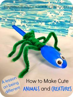 Super FUN pipe cleaners animals and creatures. The kids play with their creatures for hours.