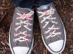 Braided shoelaces.