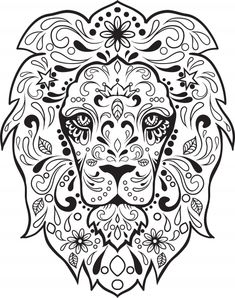 Sugar Skull Lion (Saved to Computer)
